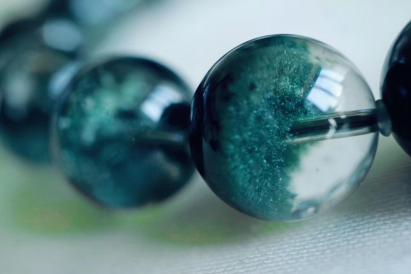 【绿幽灵聚宝盆】墨绿色绿幽灵聚宝盆,生机无限-菩心晶舍