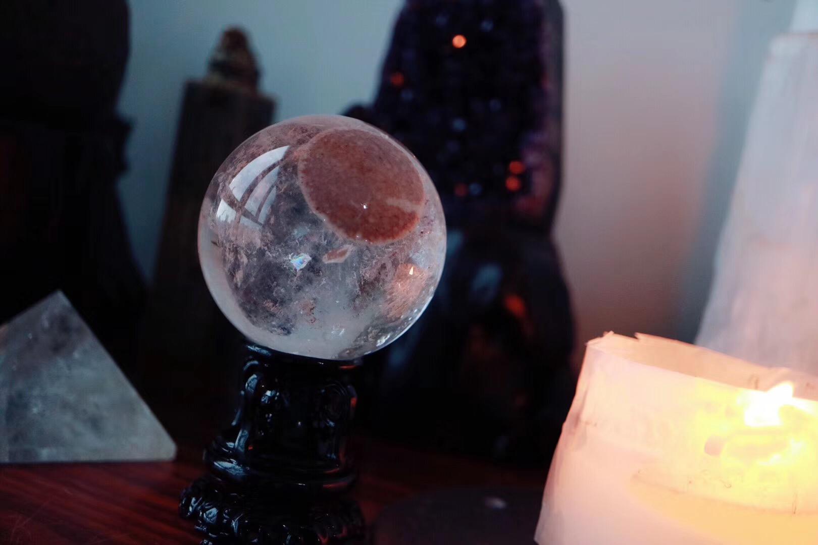 【红幽灵🌈球】 红幽灵,属幻影水晶的一种-菩心晶舍