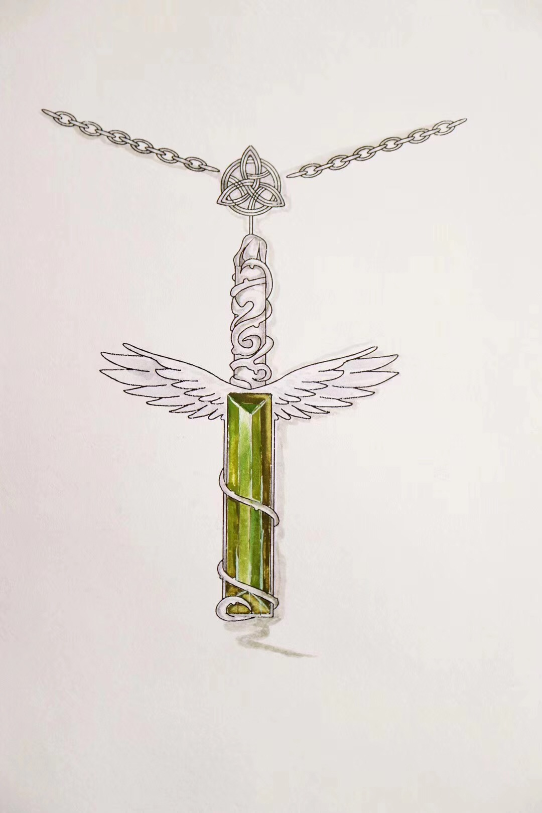 天使✝️权杖,绿碧玺11.1克拉-菩心晶舍