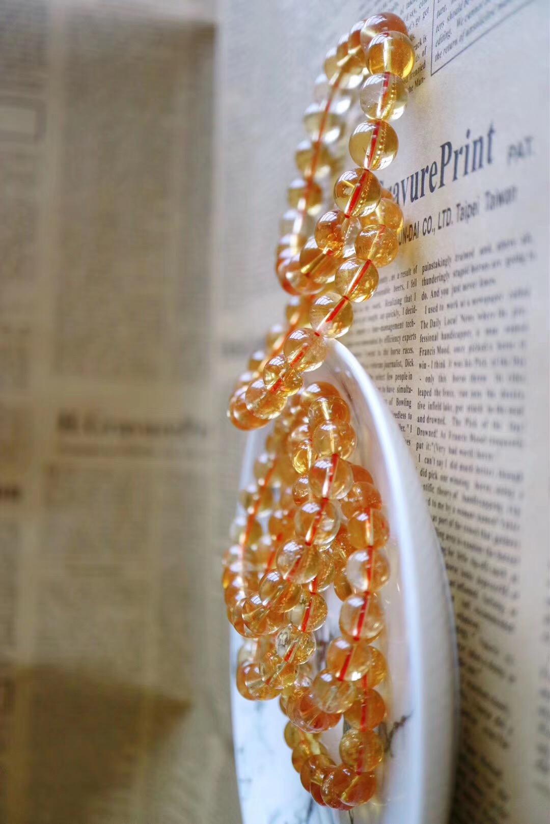 【纯天然黄水晶】黄水晶主偏财运,佩带黄水晶,能增强气场中的黄光-菩心晶舍