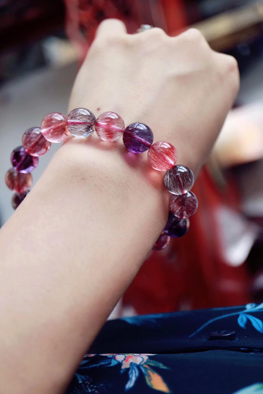 【紫发晶】超七紫发晶,疏通、平衡人体所有七个脉轮-菩心晶舍