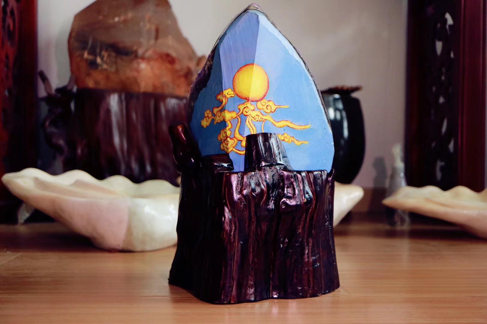 【原矿紫晶簇】十斤的大晶簇,紫气东来高频高能-菩心晶舍