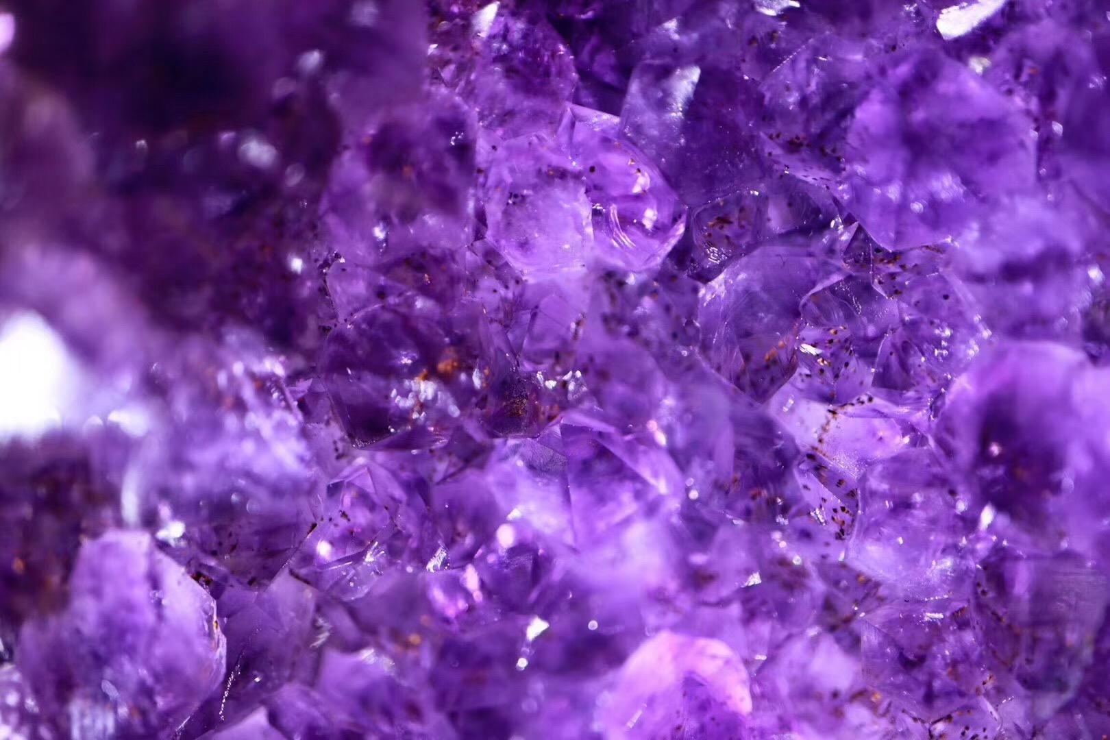 【收藏级原矿绿皮紫晶洞】形好且洞深,淡淡的紫色魅力十足-菩心晶舍