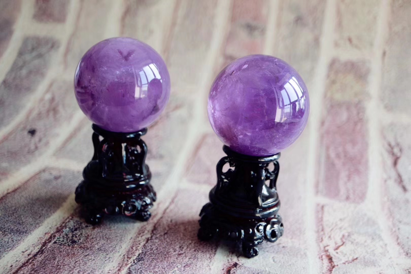 【紫晶球】颜色极美的紫晶球,最是稀有少见-菩心晶舍