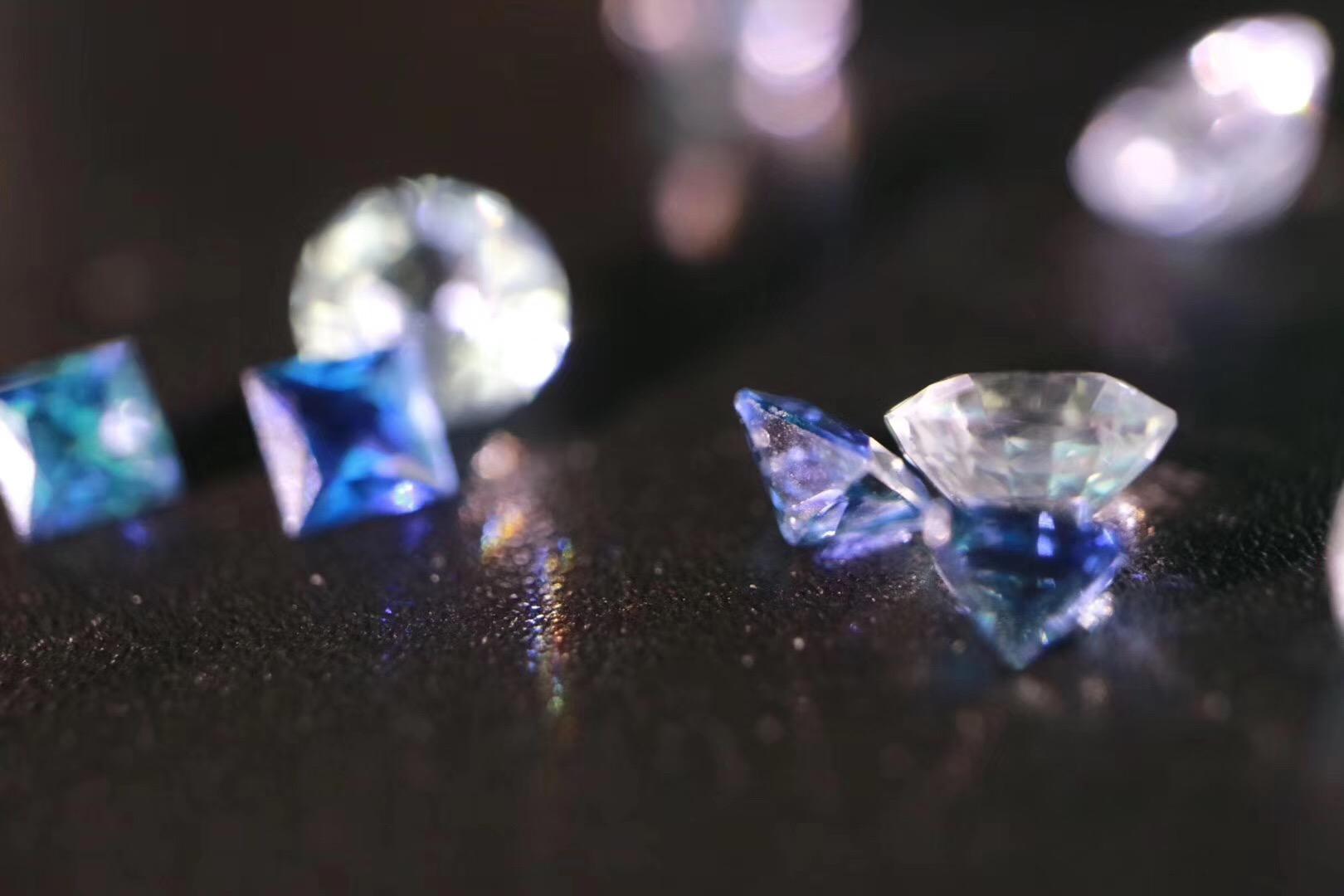 【皇家蓝&蓝宝石】  无色的钻,也是蓝宝石哦~-菩心晶舍