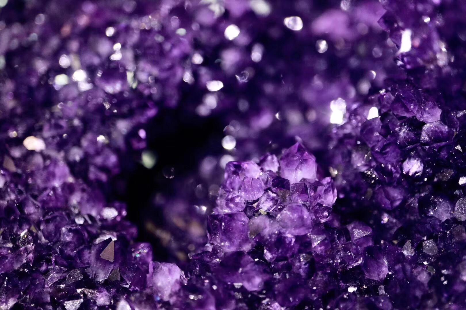 【紫晶洞】国庆前夕来一只妖孽,收藏级的乌拉圭紫晶洞-菩心晶舍