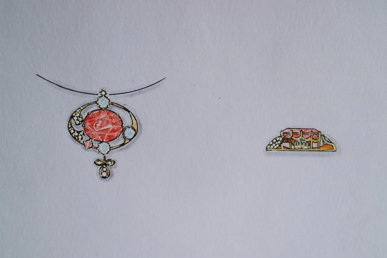 【粉色系碧玺&锁骨链】锁骨链,每个女子的心头好-菩心晶舍