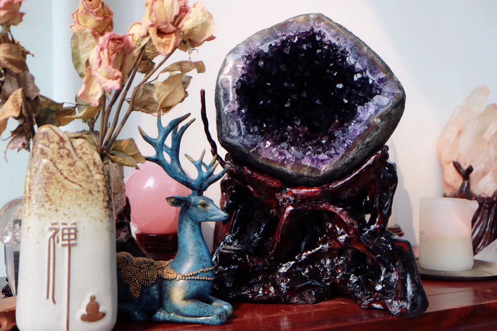 紫水晶洞不能放家里?为什么紫晶洞那么火?-菩心晶舍