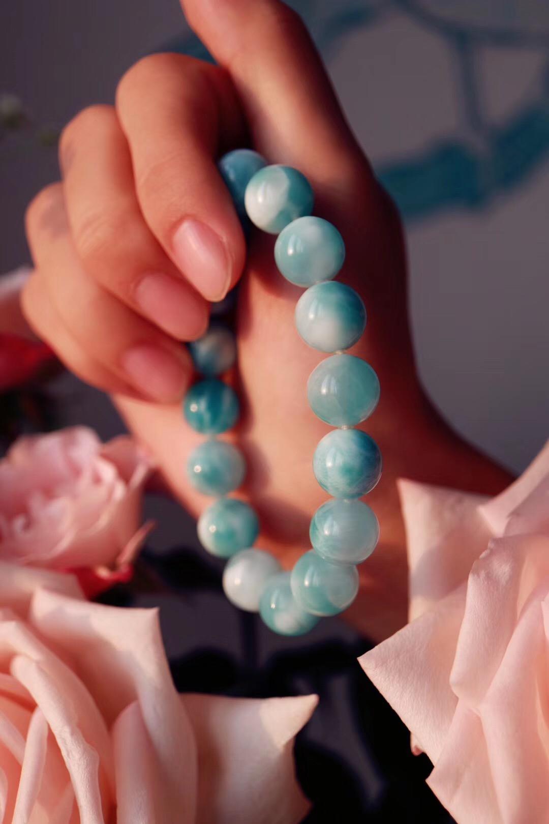 【玉化海纹石】宛若加勒比海的风情万种-菩心晶舍