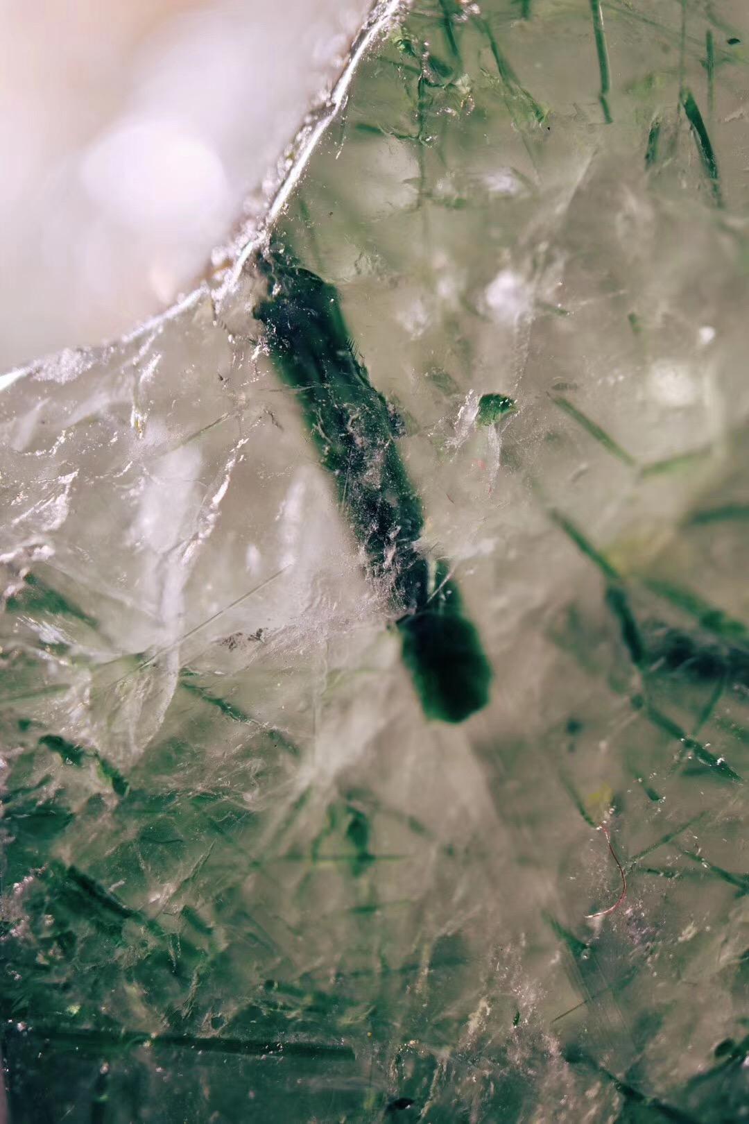 绿发晶原石- -喜欢原石的宝宝可收-菩心晶舍
