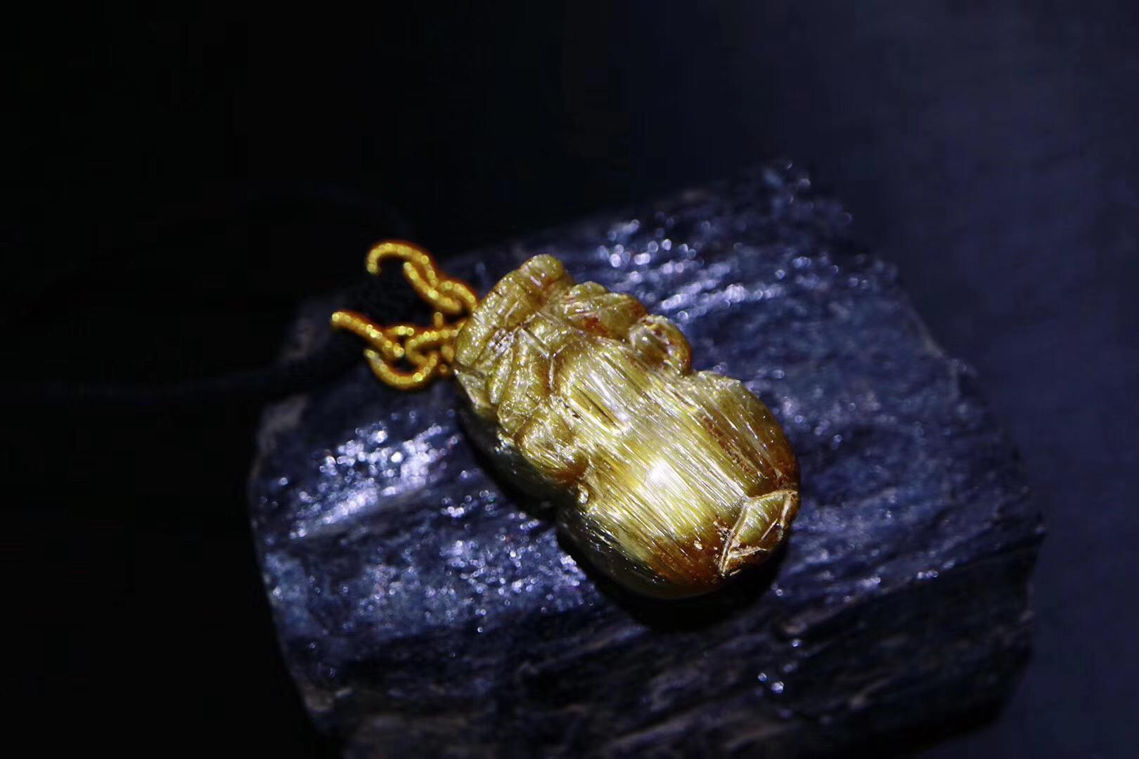 【钛晶貔貅】金灿灿的钛晶貔貅最是威猛-菩心晶舍