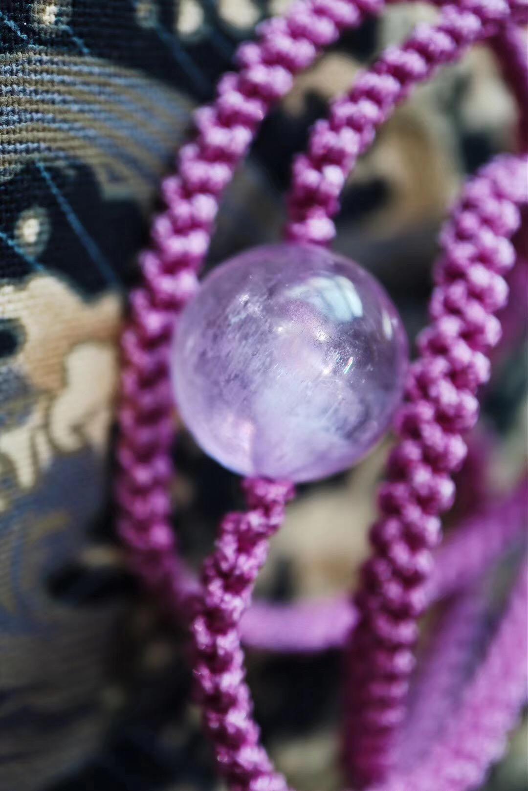 【紫锂辉、碧玺】拥有这一颗大大的紫锂辉,真幸福-菩心晶舍