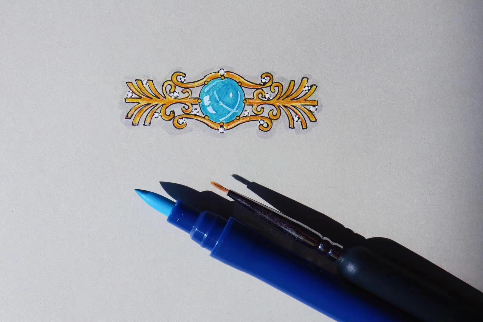正圆海纹石~~ 陆续出来的设计图。-菩心晶舍