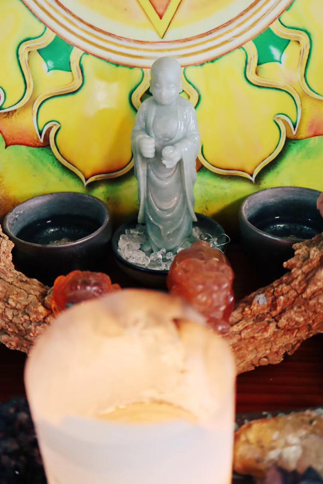 地藏菩萨的法器旧,好欢喜-菩心晶舍