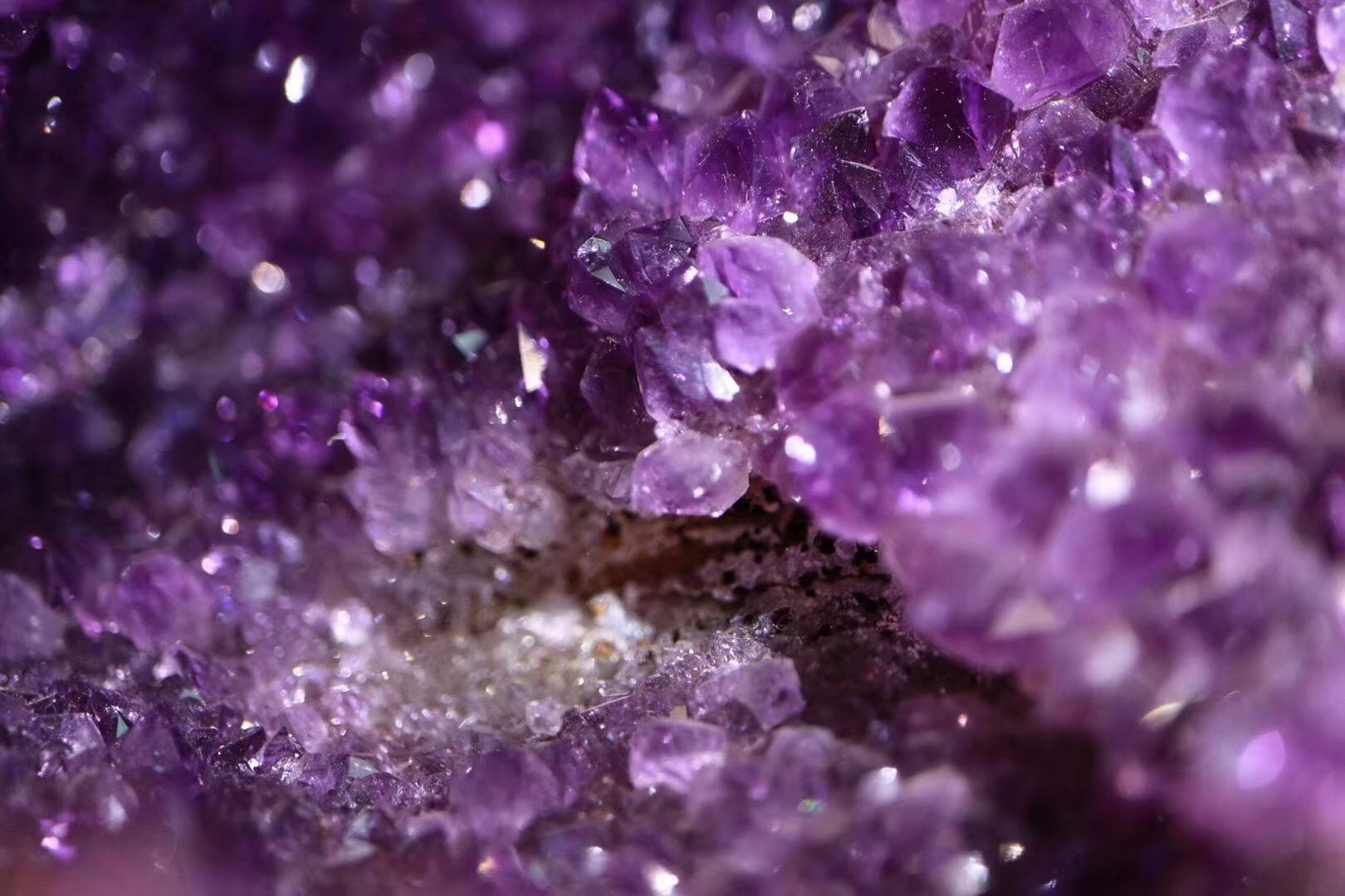 【原矿乌拉圭紫晶洞】辟邪、消磁、聚气、招财、镇宅皆可-菩心晶舍
