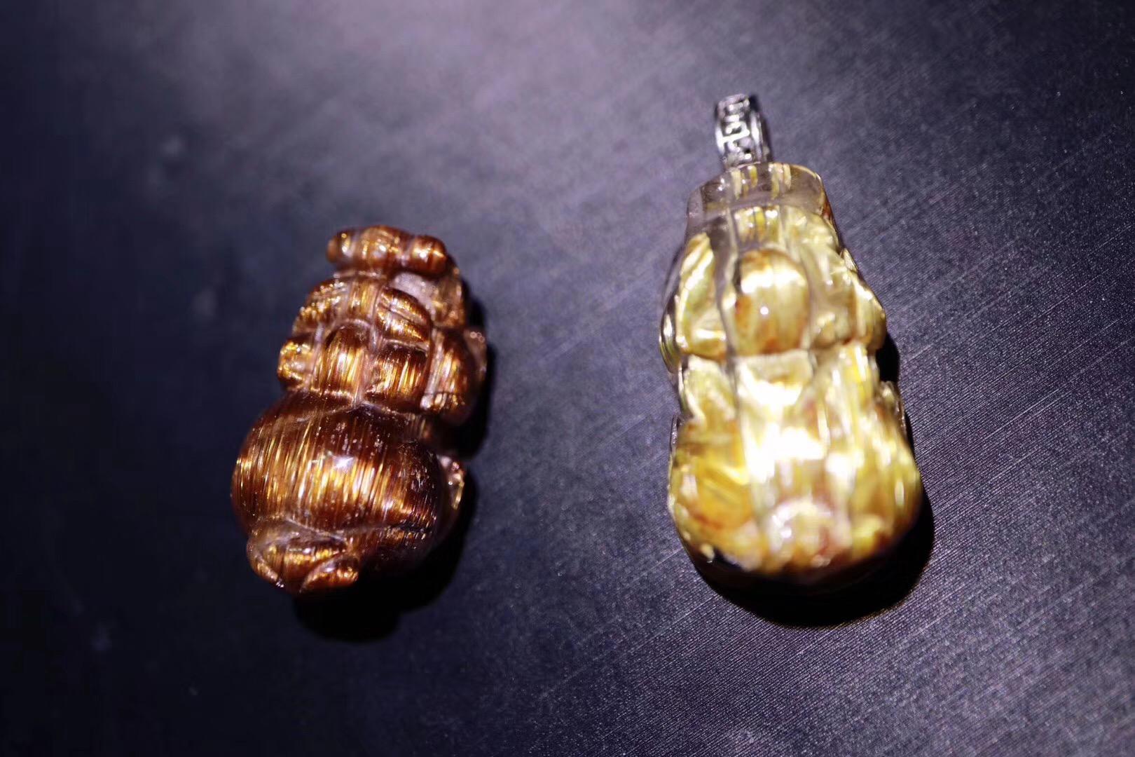 【铜发晶、钛晶】貔貅招财系科班出身,实力招财-菩心晶舍