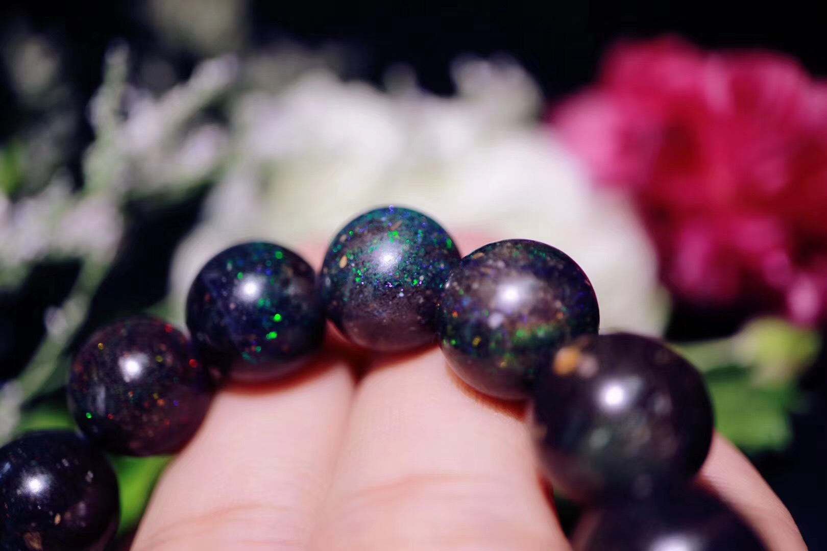 【黑欧泊】十月生辰石,也是希望和安乐之石-菩心晶舍
