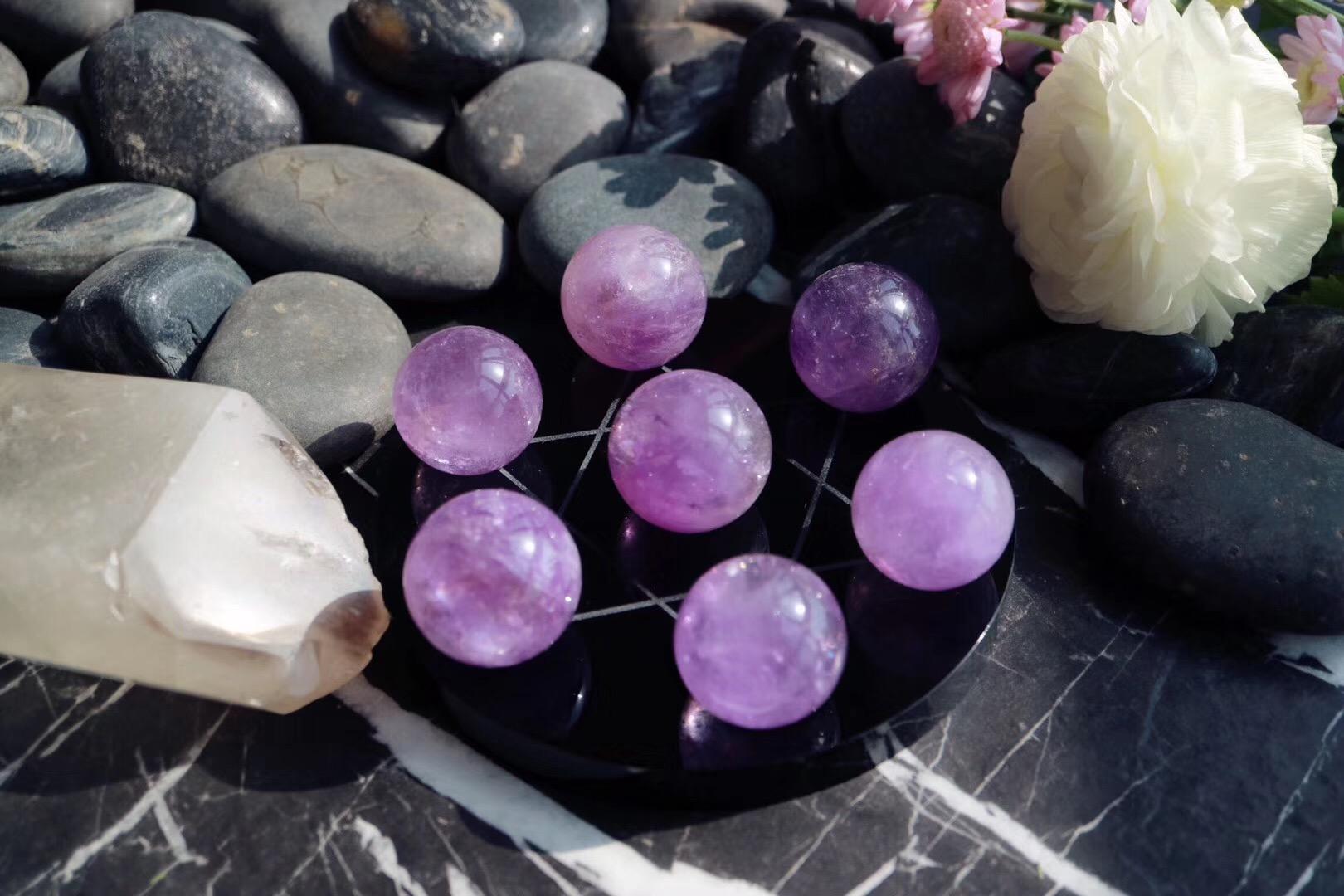 【紫水晶七星阵】紫水晶,神秘而浪漫,象征宁心安神-菩心晶舍