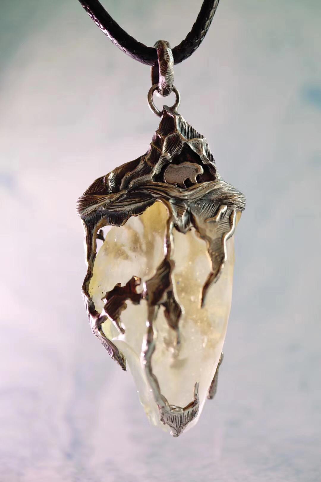 【利比亚黄金陨石】每一条纹路都是纯手工雕刻出来的-菩心晶舍