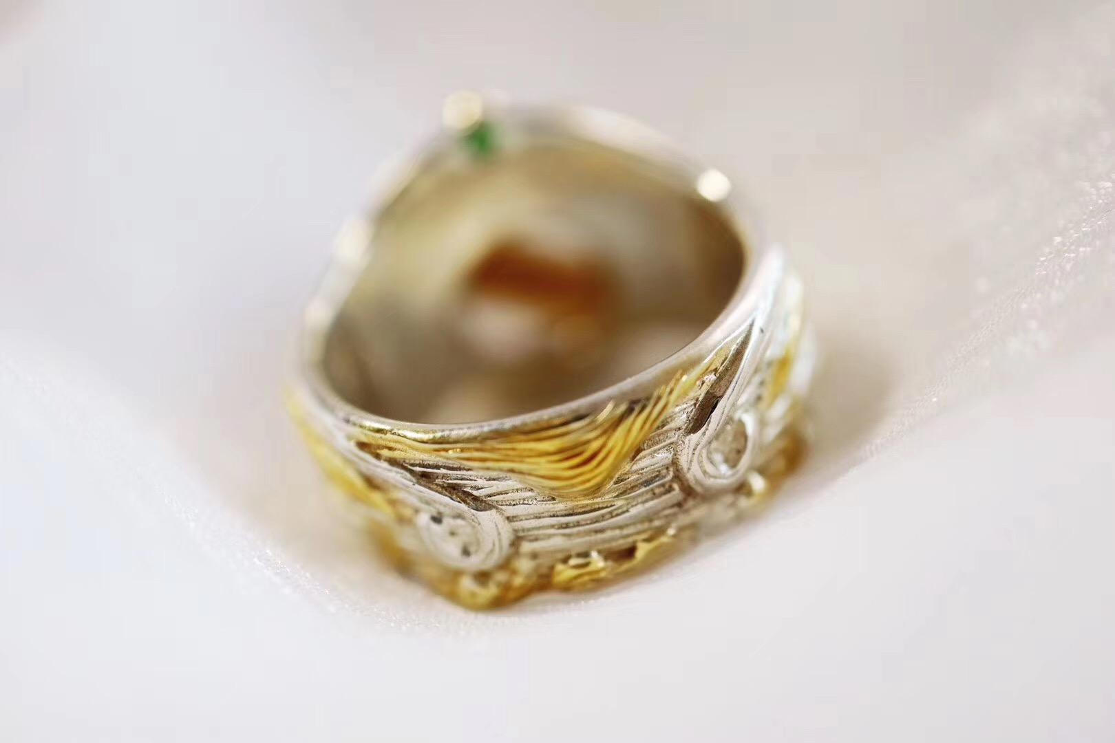 【钛晶戒】戴这枚戒指的小哥哥,是驾着七彩祥云来的吧-菩心晶舍