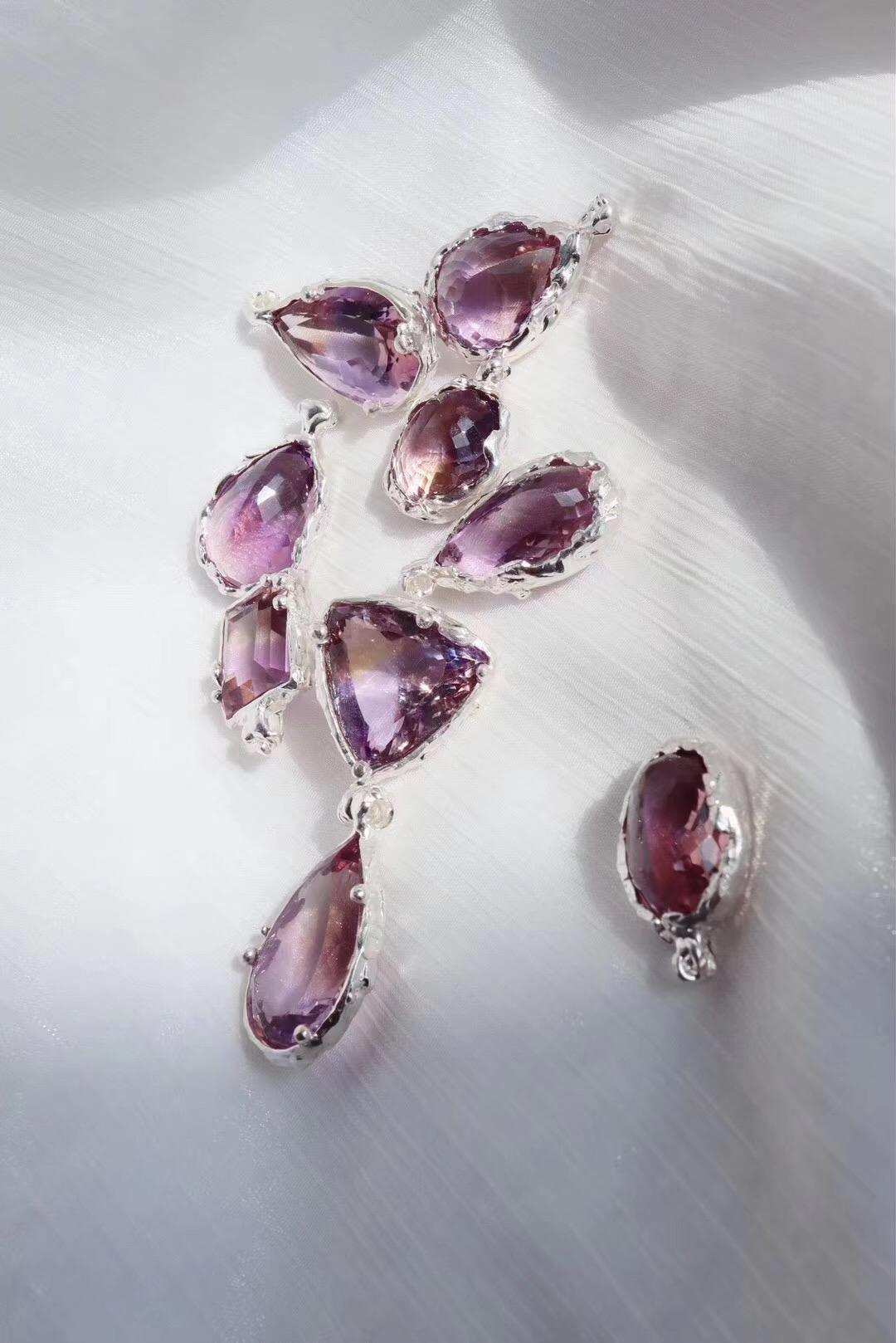 【紫黄晶】纯手工镶嵌360度旋转都完美的紫黄晶-菩心晶舍