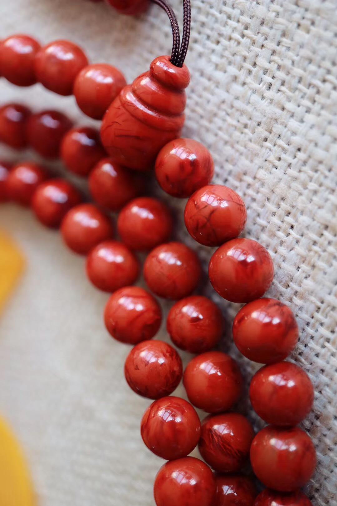 【 🔥南红玛瑙】佛珠一百零八子,让我们一起学会放下-菩心晶舍