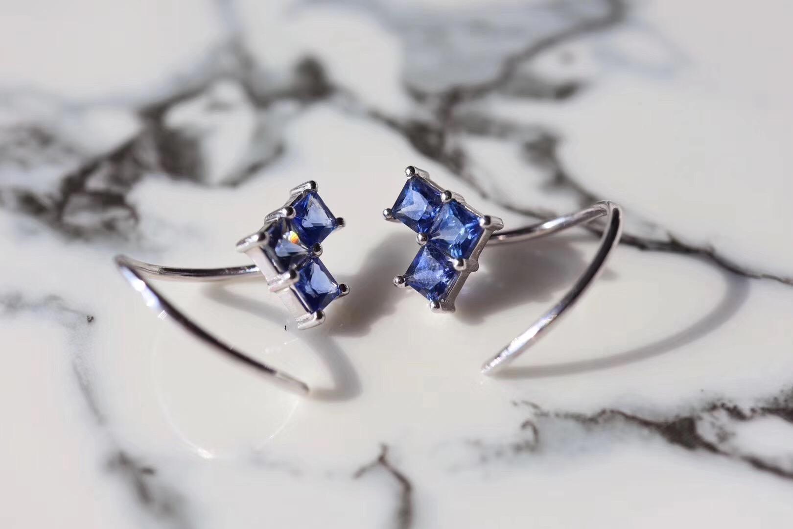 【蓝宝石耳环】快看快看,全世界都在偷偷爱你~-菩心晶舍