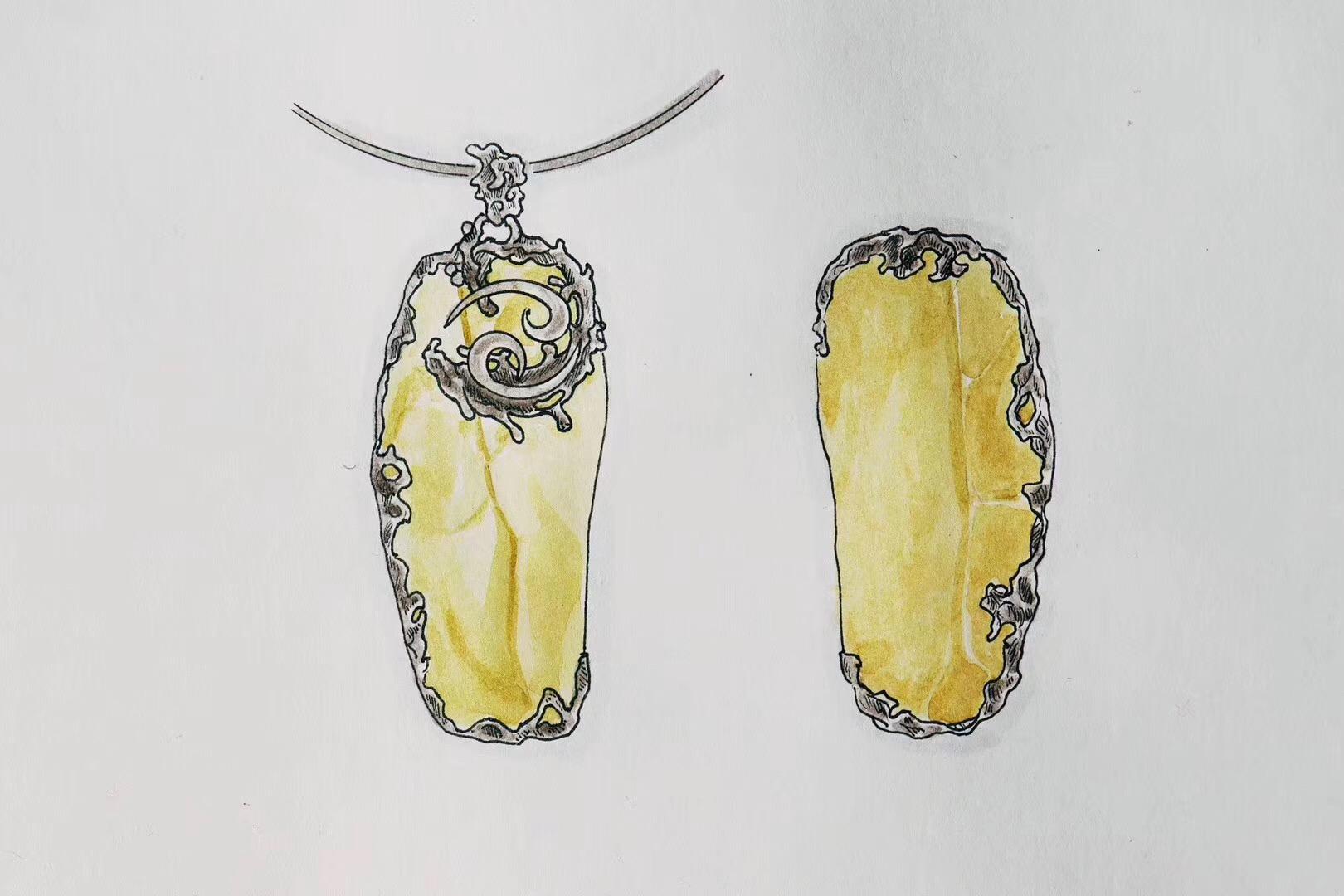 【黄金陨石】来自利比亚,这一款设计,for巨蟹座宝宝-菩心晶舍