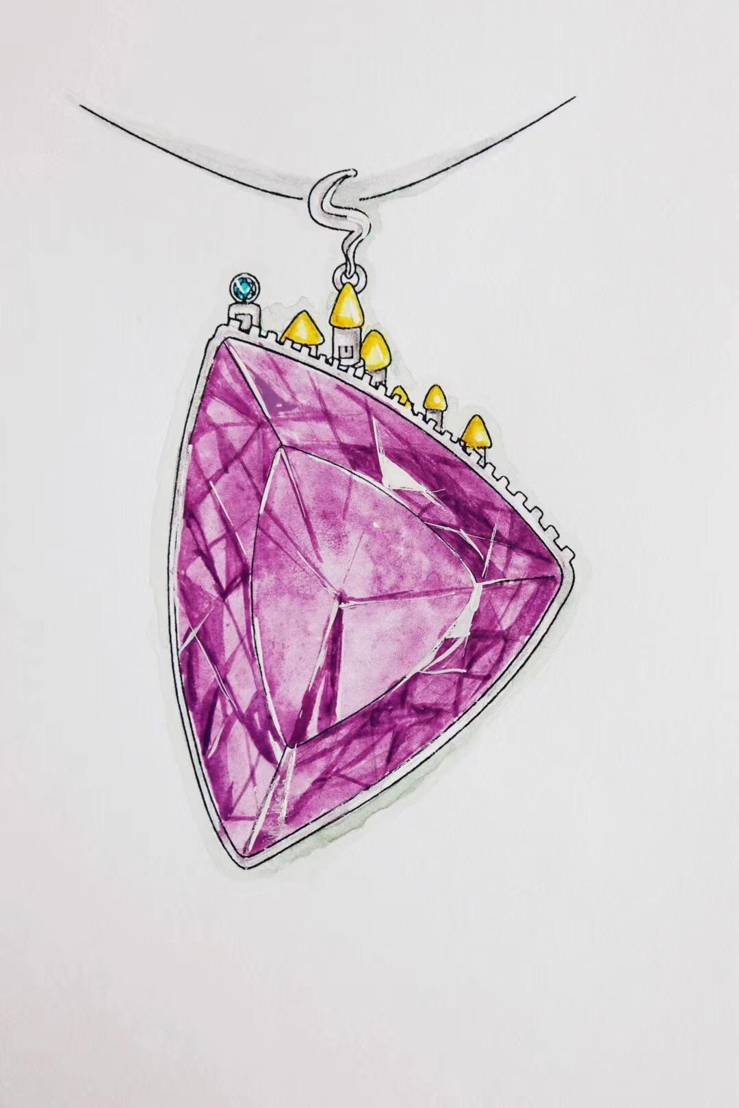 【紫水晶】在城堡里过上了幸福的日子~-菩心晶舍