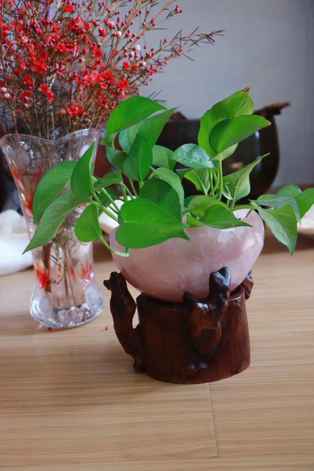 【粉晶聚宝盆】有助于为空间塑造温馨甜蜜充满爱的磁场-菩心晶舍