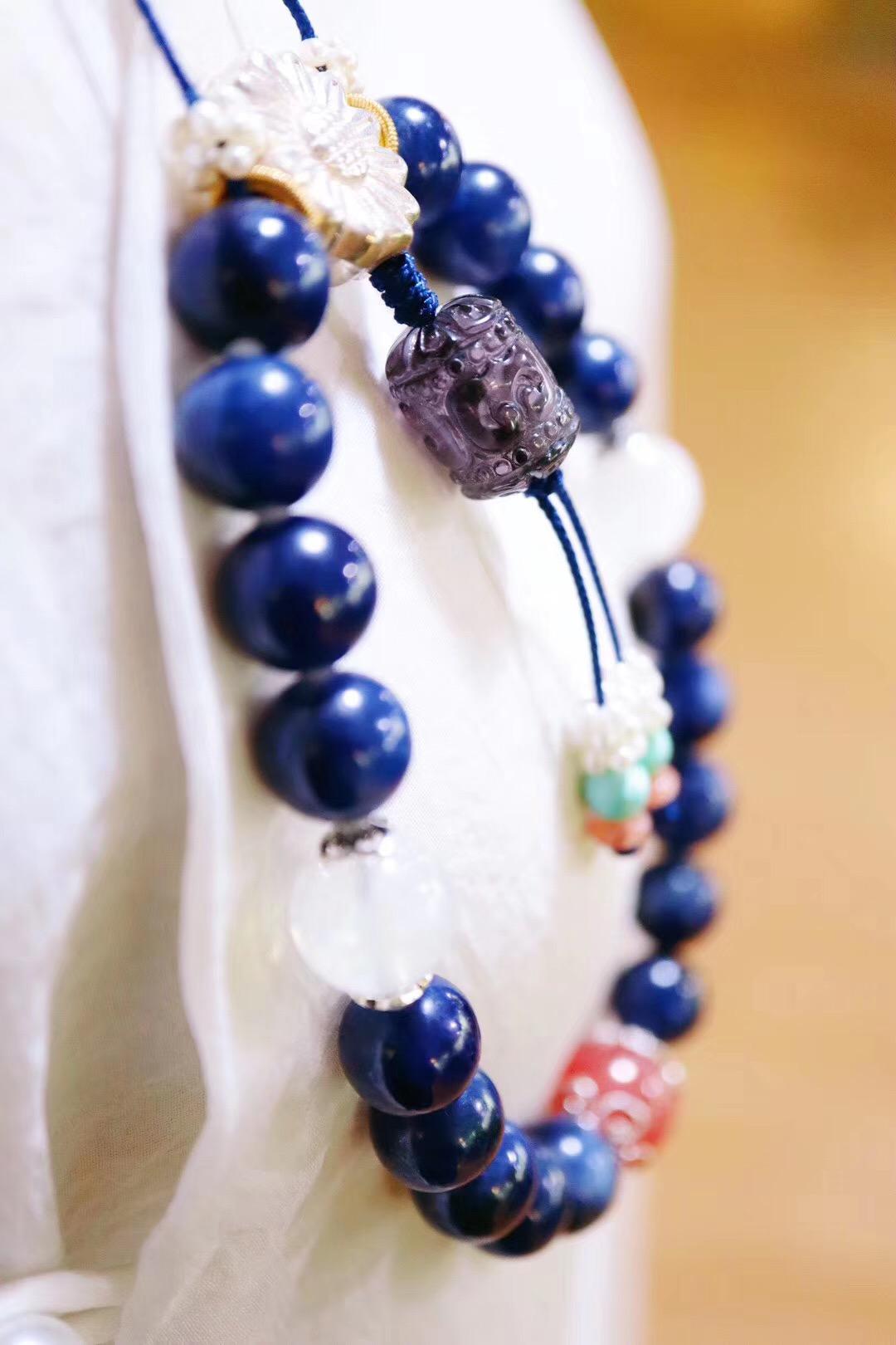 【菩心-蓝宝石&十八子】 一串蓝宝石十八子,你能否参破?-菩心晶舍