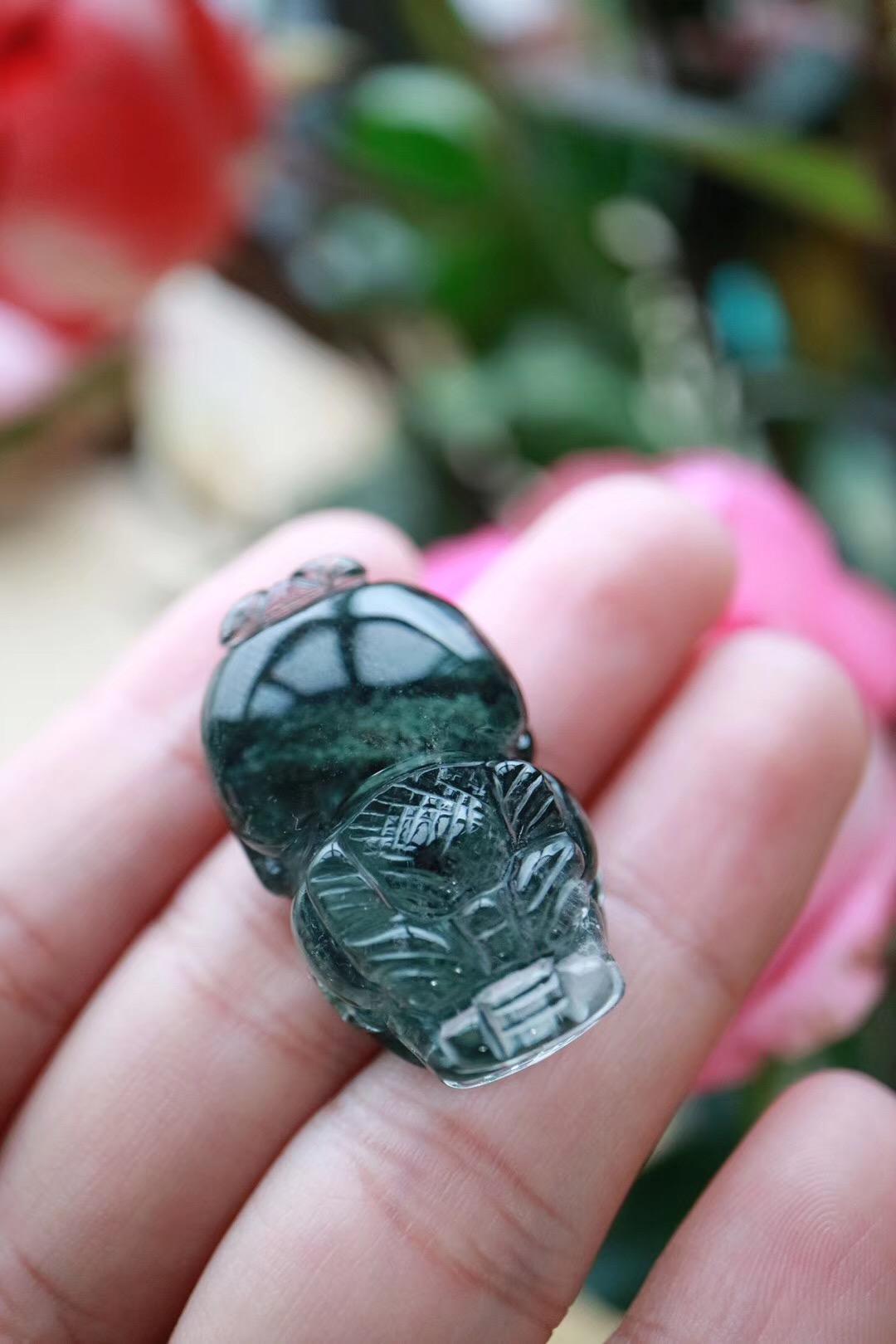 【绿幽灵貔貅】龙之九子,浑身珠光宝气-菩心晶舍