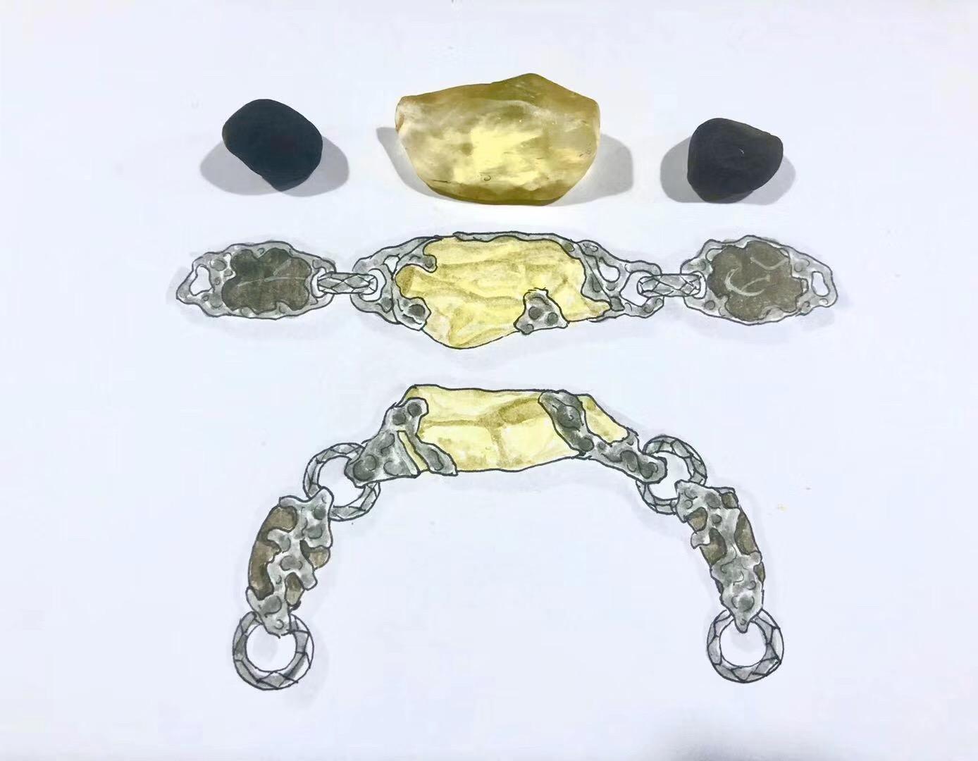 利比亚黄金陨石,遇上如意宝珠(亚利桑那陨石)-菩心晶舍
