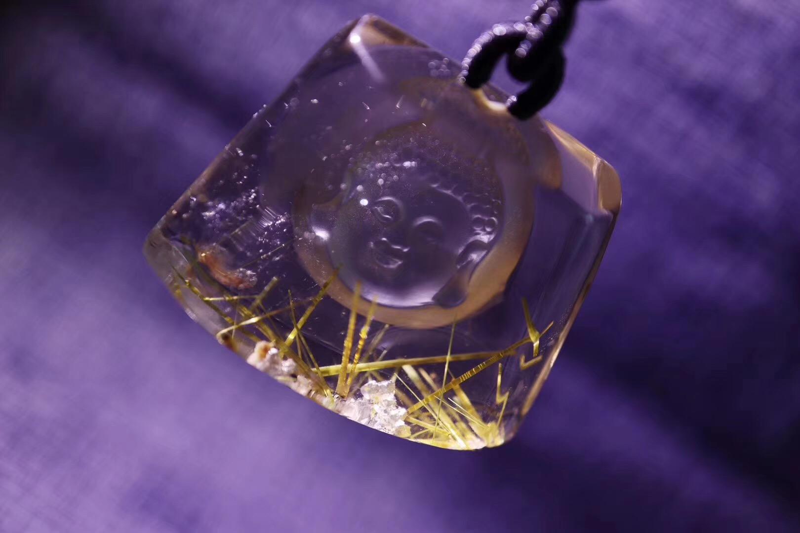【菩心-钛晶】一枚钛晶宝宝佛,守护初心-菩心晶舍