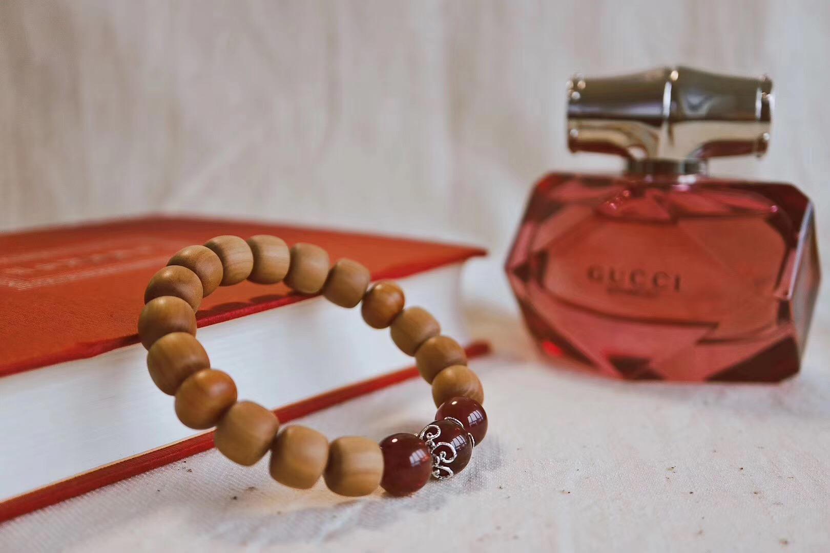 【老山檀&碧玺】书很香,香水很香,手串很香-菩心晶舍