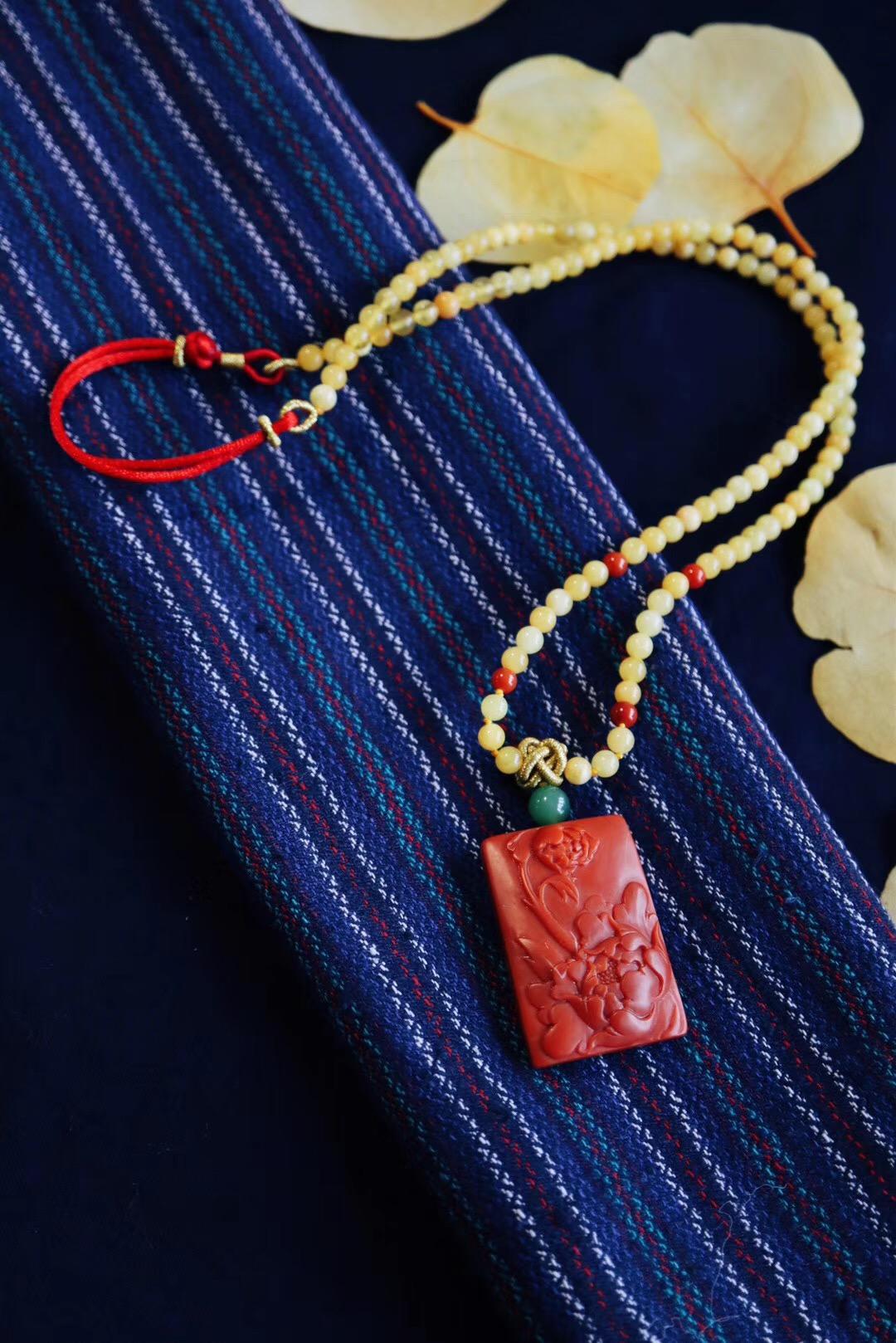 【南红玛瑙&花开富贵】保山南红&苏工收藏级-菩心晶舍