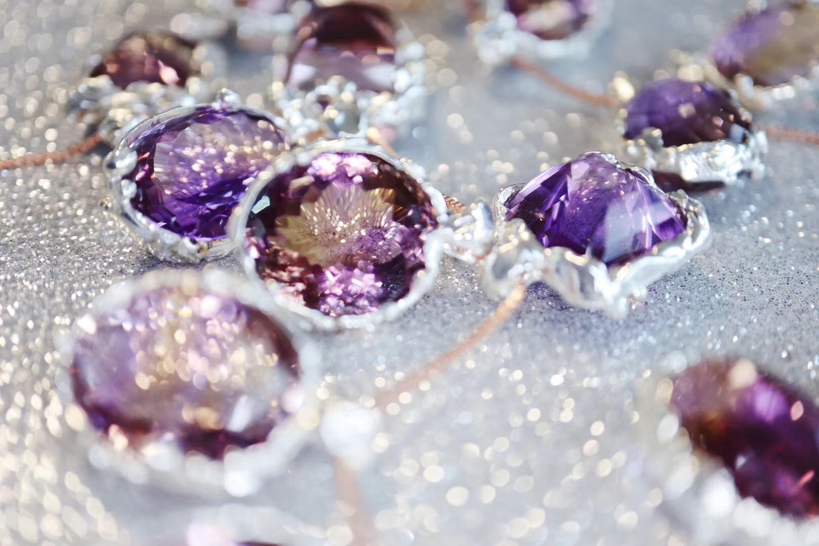 【紫黄晶】久等了~菩心经典纯手工紫黄晶吊坠-菩心晶舍
