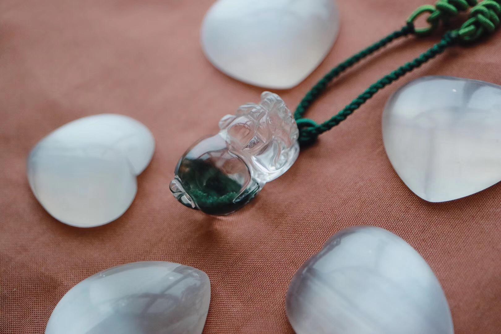 【极品绿幽灵貔貅】绿色,对应心轮,是生命的颜色-菩心晶舍