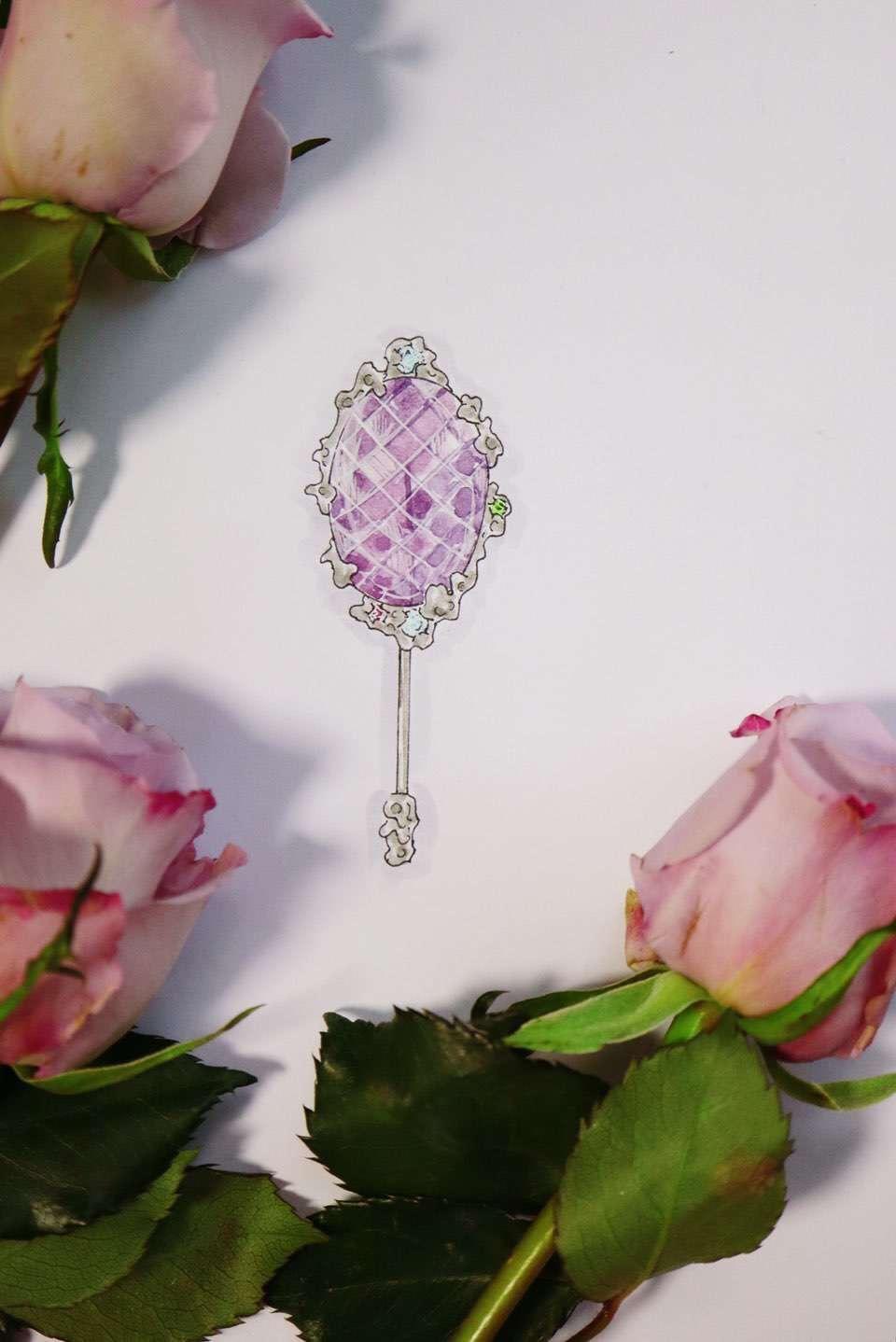 【紫水晶胸针】年底,小棉袄们都来给妈咪定制礼物了-菩心晶舍