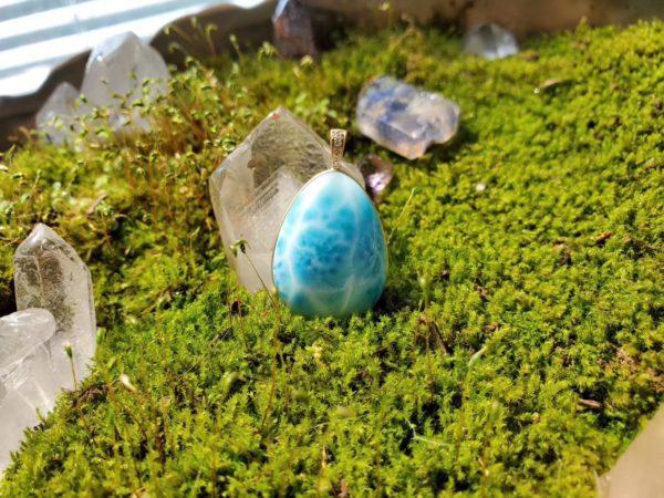 【菩心-利比亚黄金陨石、海纹石】返图-菩心晶舍
