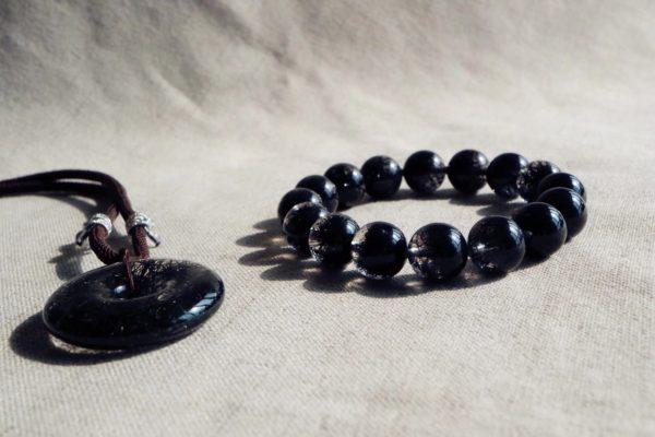酷酷的发黑晶聚宝盆 & 平安扣,小姐姐戴上他,都会很安心~-菩心晶舍