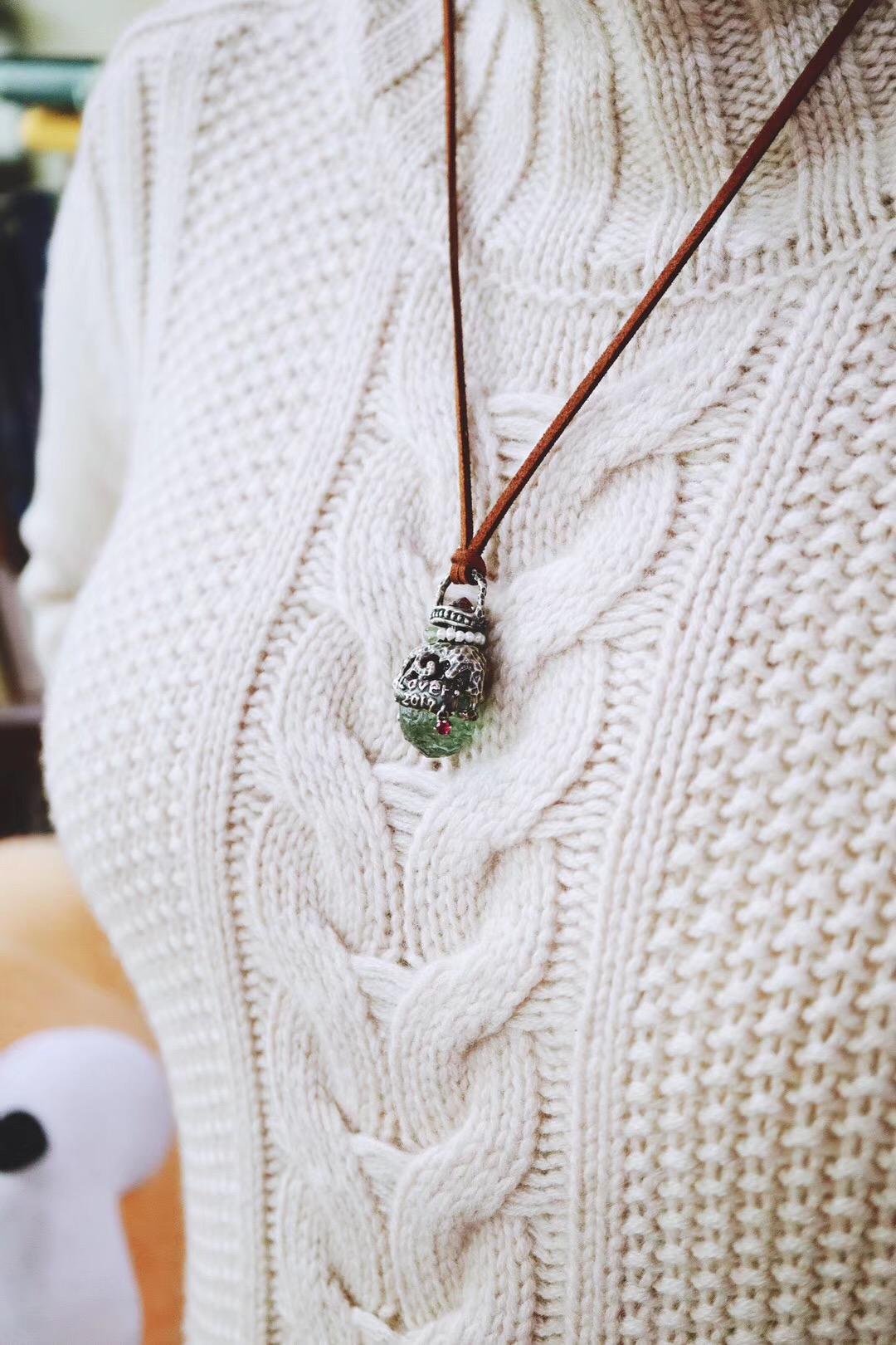 【碧玺原石】一款香水瓶,纯手工-菩心晶舍