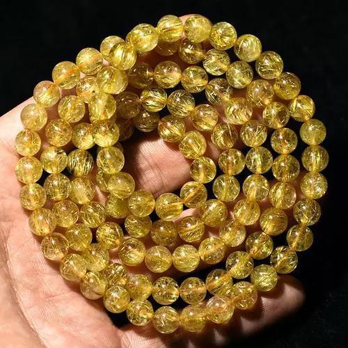 图解:钛晶和金发晶被染色处理后是怎么样的?-菩心晶舍