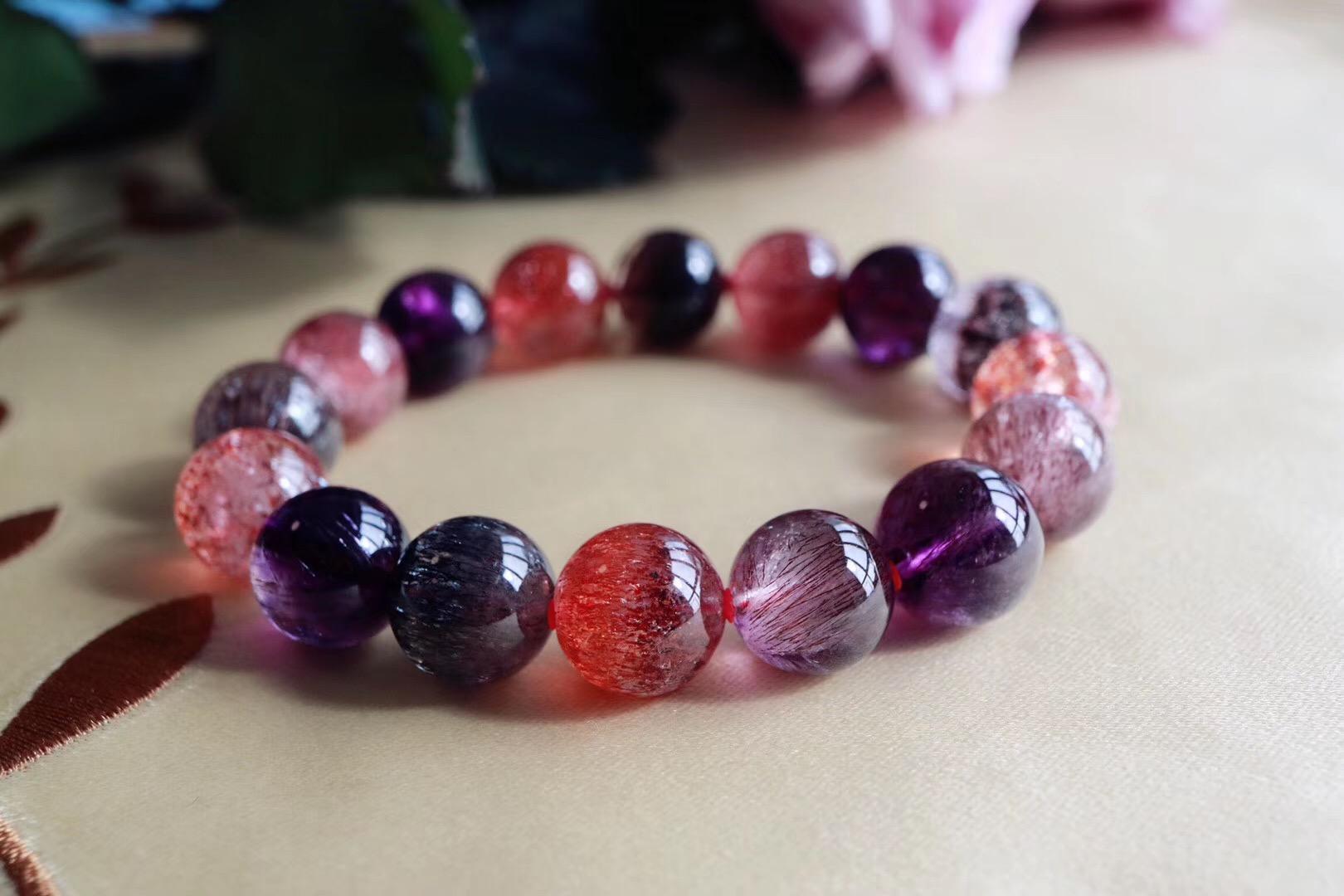 【超七紫发晶】 紫发晶具有强大的磁场-菩心晶舍