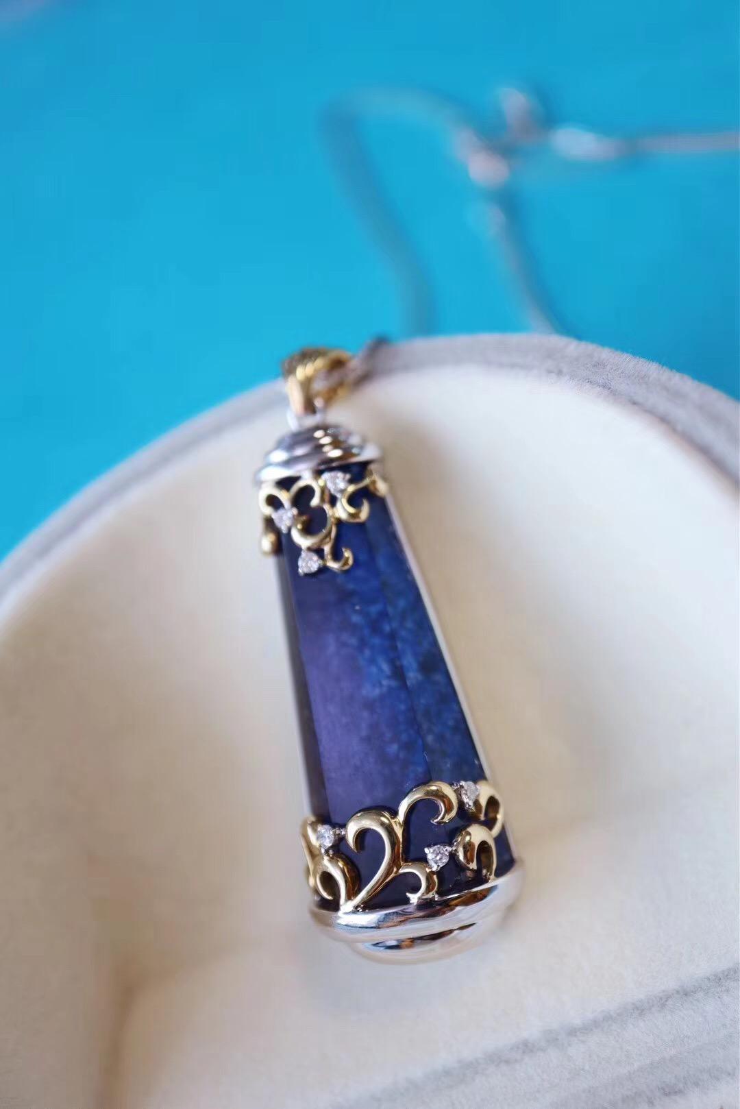 【蓝发晶】天然蓝发晶,极稀有的一种晶石-菩心晶舍