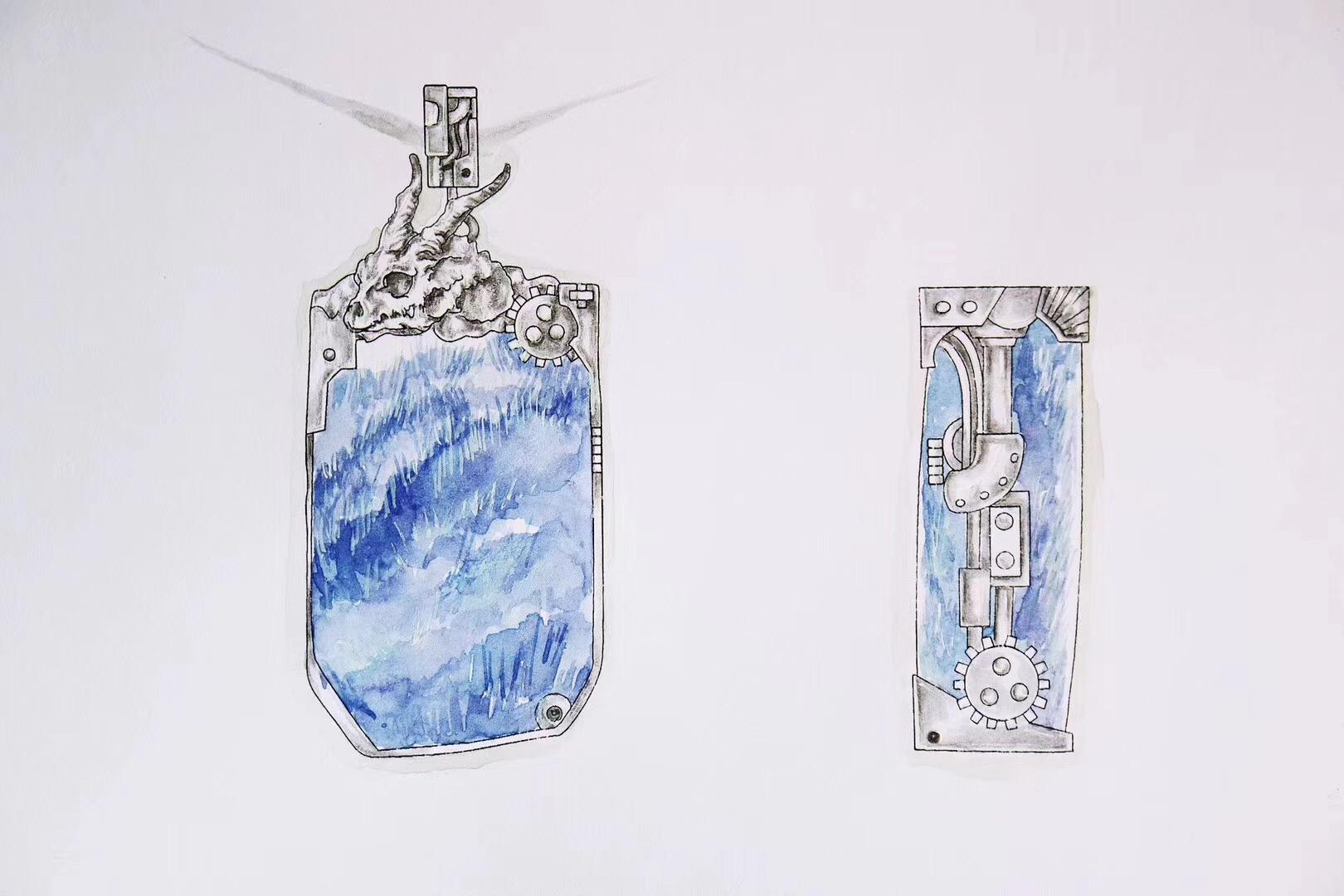 【菩心-蓝发晶】纯天然蓝发晶,非常非常稀有-菩心晶舍
