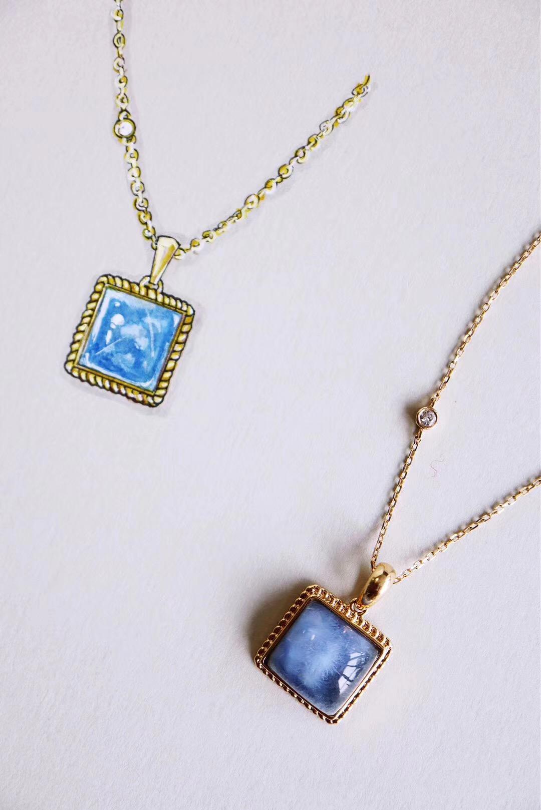 【收藏级蓝发晶】蓝色调,象征和平与稳定,给人信任-菩心晶舍