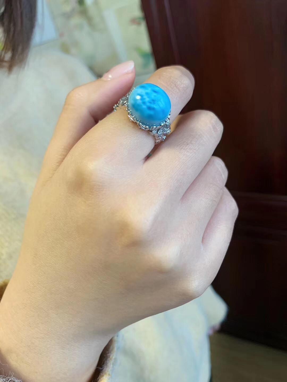 【海纹石】戴上这婚纱般浪漫的海纹戒-菩心晶舍