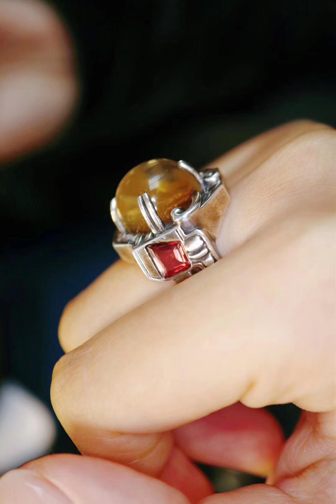 【钛晶&碧玺】代表领导力的钛晶戒指-菩心晶舍