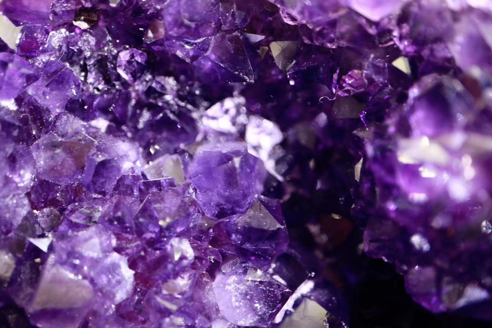菩心mini紫晶洞,办公桌新宠-菩心晶舍